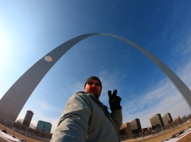 Me at the Gateway Arch