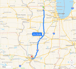 Rockford to St. Louis Map